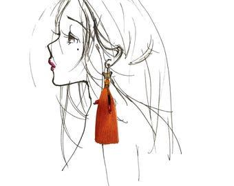 Fringe/Tassels Butterfly earring Earrings