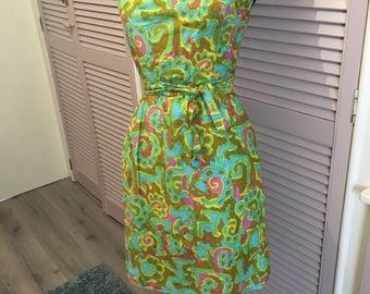 Multi colour Handmade vintage dress