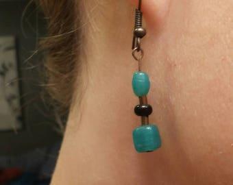 Handmade Dangling Glass Bead Earrings