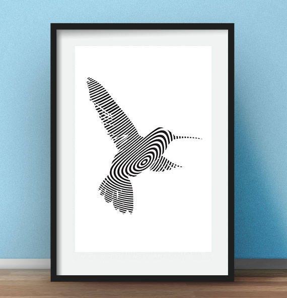 Office Artwork Hummingbird Print Home Decor Wall Art Birds