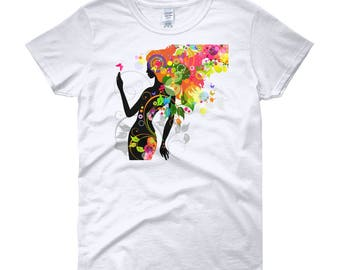 Women's  t-shirt colorful mother Nature