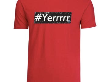 ErickJhonsWorld #Yerrrrr Shirt- Black and Red