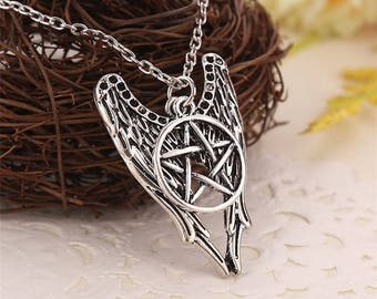 Vintage Style Supernatural Silver Pendant Necklace