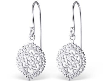 Silver Flower Cut-out Earrings