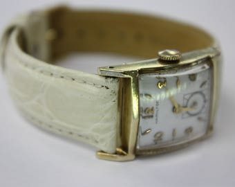 "Vintage Hamilton ""stafford"" 14 k yellow gold , mens watch , manual wind cal. 754"