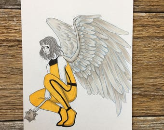 Shayera Hol in Copic markers