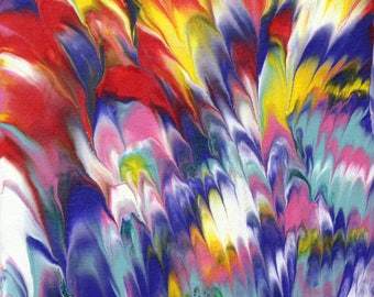 Spring Tulips - Original Abstract Acrylic Painting on Canvas Panel