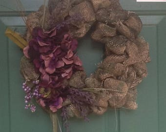 "16"" Camo burlap wreath"