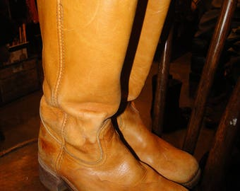 Vintage FRYE Leather Boot Cowboy Western Boot size 8.5 D