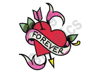 Forever - Machine Embroidery Design, Heart