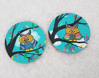 Owl coasters, wood coasters, Original Hand Painted, home decor , gift ideas