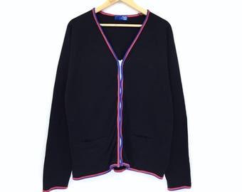 Rare!!Vintage Beams Cardigan Zipped up Vneck