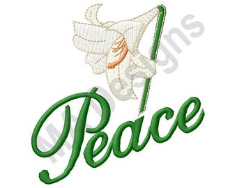 Peace Lily - Machine Embroidery Design