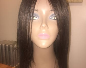 Hand made wig with human hair