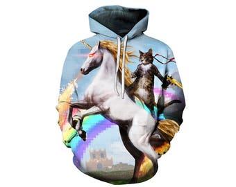 Unicorn Hoodie, Unicorn, Unicorn Hoodies, Animal Prints, Animal Hoodie, Animal Hoodies, Unicorns, Hoodie, 3d Hoodie, 3d Hoodies - Style 4
