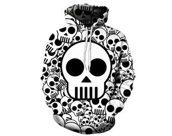 Skull Hoodie, Skull, Skull Hoodies, Skull Prints, Scalp Hoodie, Gothic, Skeleton, Skulls, Scalp, Hoodie, 3d Hoodie, 3d Hoodies - Style 5