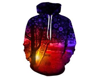 Tree Hoodie, Outdoor Hoodie, Tree Sweatshirt, Nature Hoodie, Art, Hoodie Art, Hoodie Pattern, Pattern Hoodie, Hoodie, 3d Hoodie - Style 10