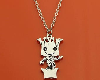 Baby Groot, Im Groot Pendant Guardians of the Galaxy Necklace