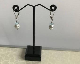 Shell Pearl with Gemstone earrings