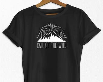 Women's T-shirt - Call of the Wild Tee - Adventure T shirt - Comfortable T Shirt - Green T-Shirt - Travel T-Shirt - T-Shirts
