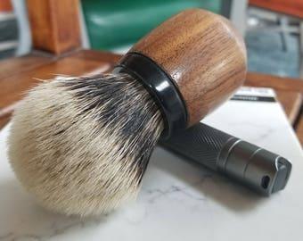 Daruma - Black, Two Band Badger Shaving Brush