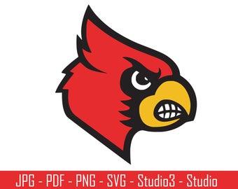 Louisville Cardinals, Cardinals, College Sports, Basketbal, Footballl - Cut Files - SVG, PNG, Studio - Silhoutte. Cricut and More - CS045