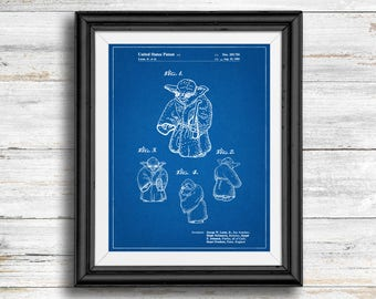 Star Wars Yoda Full Image Patent Poster, Yoda Print, Starwars Art, Star Wars Wall Art, Star Wars Characters, Blueprint, Vintage,