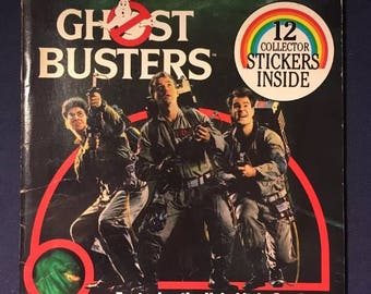 Ghost Busters Collector Sticker Book From 1984