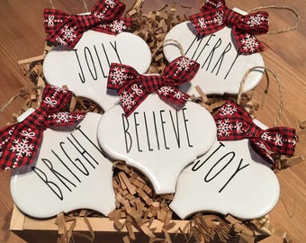 Personalized Rae Dunn Inspired Ornaments