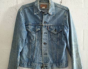 Vintage Levi's 1970's Type III 2 Pocket Denim Jacket M
