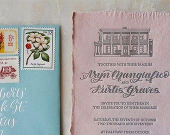 CUSTOM Wedding Venue Illustration, Event Venue Illustration