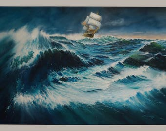 "STORM AT SEA"", 120x80cm, Oil on Canvas"
