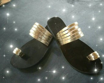 Greek Leather Sandals No 609  Women's - New Model Summer 2018
