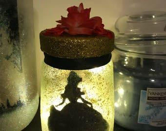 Disney inspired Belle Lantern Jar