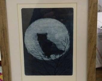 Framed Dry Point Print