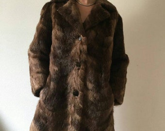 Vintage years 60's nutria fur jacket
