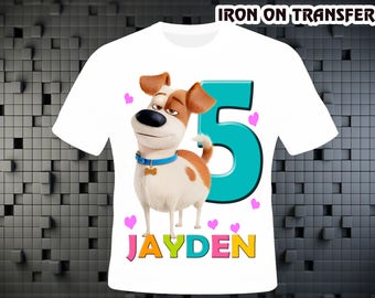 Secret Life Of Pets , Iron On Transfer DIY , DIY Birthday Shirt , Personalize Digital Design , Iron On Transfer , Digital File