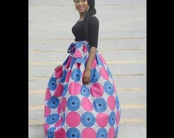 Trisha African maxi skirt, Ankara maxi skirt,African skirt, maxi skirt, African maxi skirt