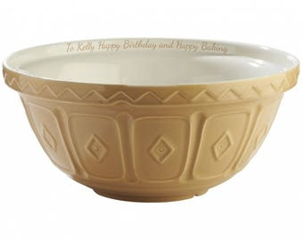 Traditional Personalised Mixing Bowl