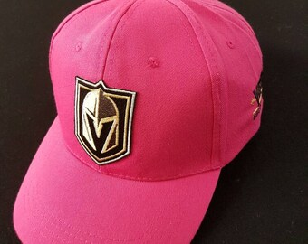 Las Vegas Golden Knights Bight Pink Hat - Curved Bill baseball cap with Velcro strap. NEW HOT ITEM - Support Breast Cancer