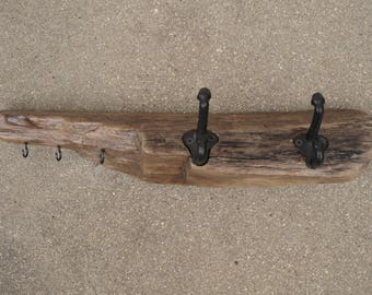 Oregon Coast Driftwood Coat Rack / Key Ring / Key Holder / Jacket Rack