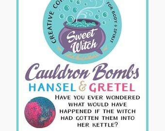 Cauldron Bombs (bath bombs) Hansel & Gretel