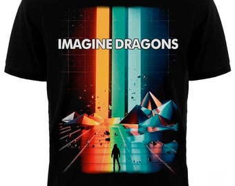 """T-shirt Imagine DRAGONS """"BELIEVER"""" Different size. A metal band Nation. New. Silkscreen printing"""