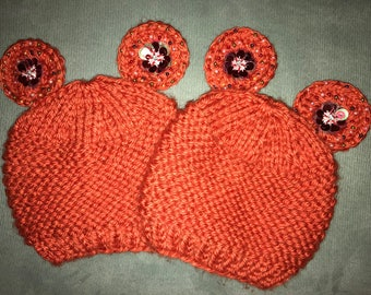 Mickey Mouse hat with beads