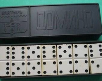 old domino set plastic domino set vintage domino retro domino soviet domino ussr domino plastic domino rare domino