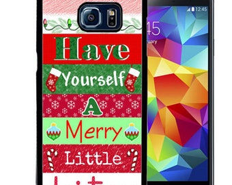 Christmas Rubber Case For Samsung Note 3, Note 4, Note 5, or Note 8- Merry Little Christmas