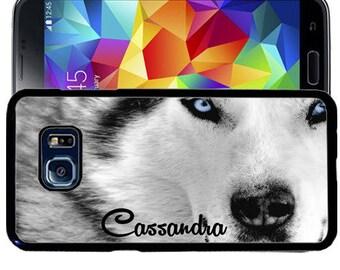 Personalized Rubber Case For Samsung S5, S6, S6 edge, S6 Edge Plus, S7, S7 Edge,  8, 8 plus - White Wolf