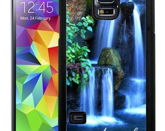 Personalize Rubber Case For Samsung Note 3, Note 4, Note 5, or Note 8- Waterfall Nature