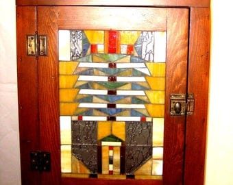 Mosaic Arts and Crafts Style Cabinet