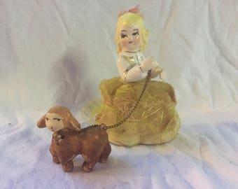 Vintage mary had a little lamb figurine